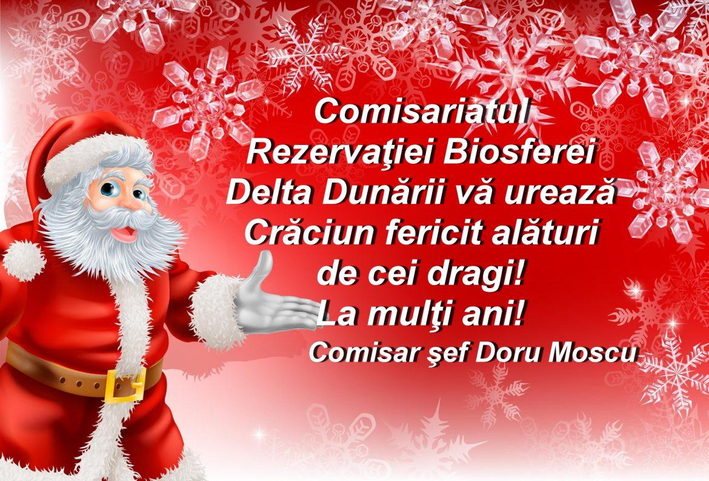 Comisariatul Rezervaţiei Biosferei Delta Dunării vă urează Sărbători fericite!