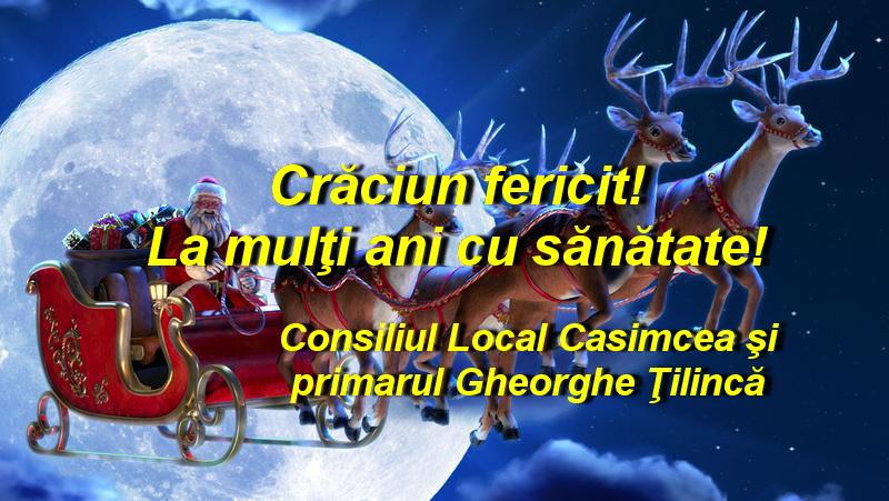 Consiliul Local şi Primăria Casimcea vă urează Sărbători fericite!