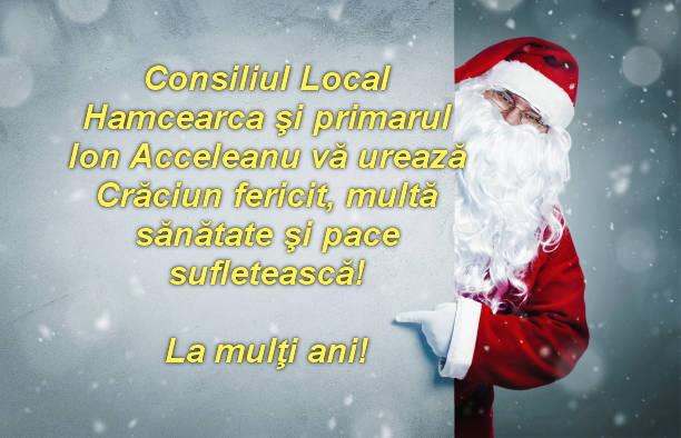Consiliul Local şi Primăria Hamcearca vă urează Sărbători fericite!