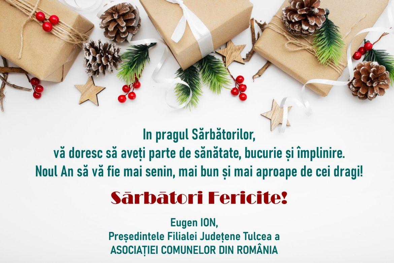 Consiliul Local şi Primăria Jurilovca vă urează Sărbători fericite!
