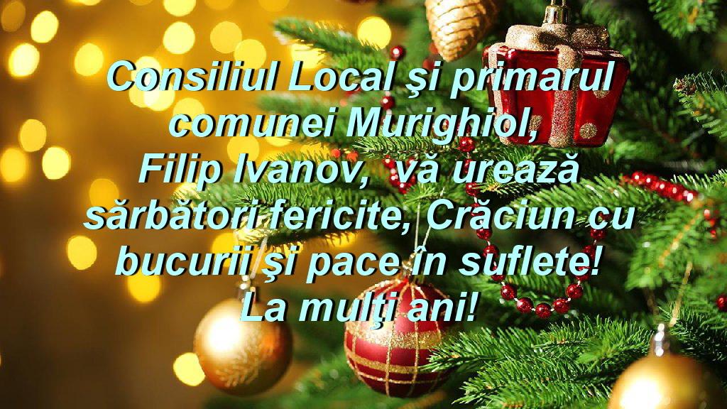 Consiliul Local şi Primăria Murighiol vă urează Sărbători fericite!