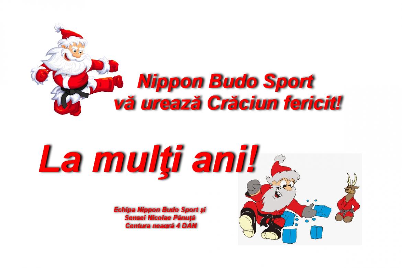 Nippon Budo Sport vă urează sărbători fericite!