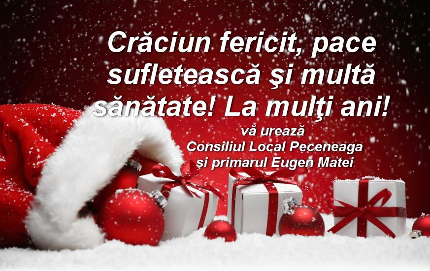 Consiliul Local şi Primăria Peceneaga vă urează Sărbători fericite!