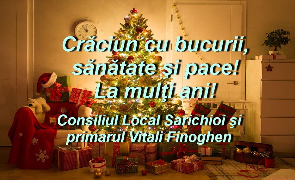 Consiliul Local şi Primăria Sarichioi vă urează Sărbători fericite!
