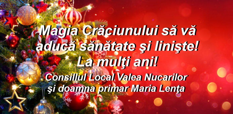 Consiliul Local şi Primăria Valea Nucarilor vă urează Sărbători fericite!