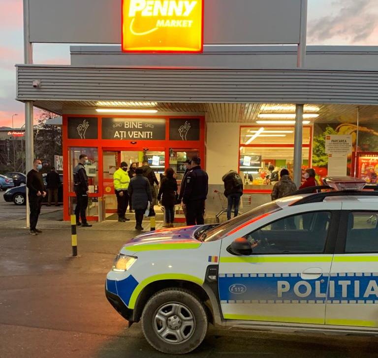 Poliţiştii tulceni în controale la centrele comerciale