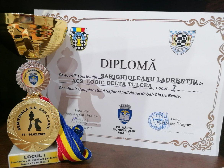 Laurențiu Sarighioleanu câștigătorul Semifinalei Campionatului Național de Șah pentru Seniori – Brăila