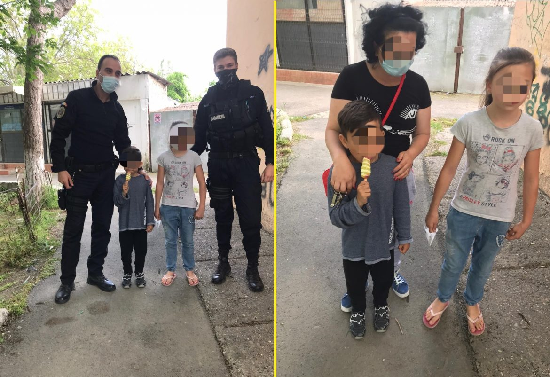 Copil de 6 ani, dat dispărut, găsit de jandarmii tulceni