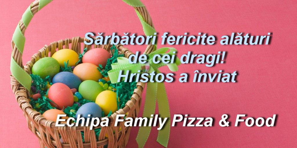 """Echipa Family Pizza & Food vă urează: """"Sărbători fericite"""""""